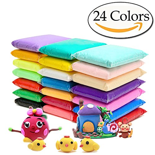 Das Air Drying Clay (Anyumocz 24 Colors Super Light Air Dry Clay Ultra Light Clay Creative Art DIY Crafts with Tools)
