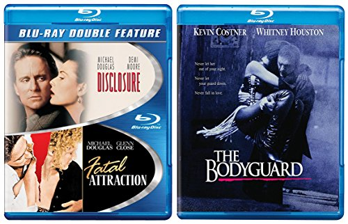The Bodyguard [Blu-ray] Fatal Attraction & Disclosure Blu Ray DVD 2 Pack Romantic Movie Set