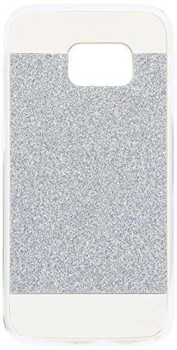 Asmyna Carrying Case for Samsung G925 Galaxy S6 Edge - Retail Packaging - Silver/White Glittering