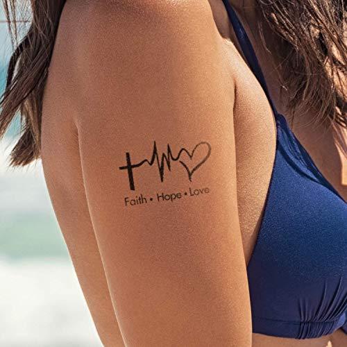 Religious Temporary Tattoos (Faith Hope Love)]()