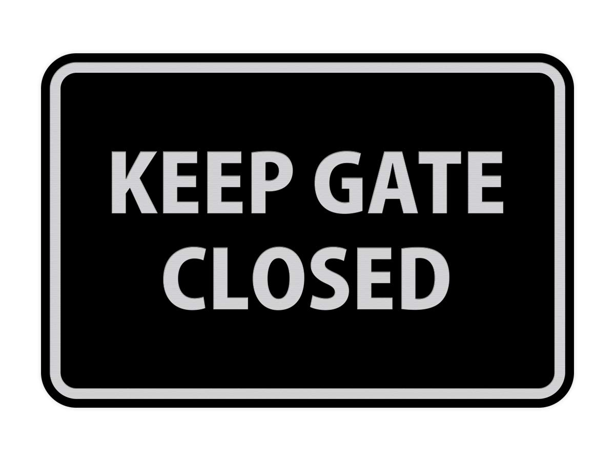 Walnut Signs ByLITA Classic Framed Keep Gate Closed Sign Large