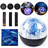 YQST Night Light Projector Lamp Mysterious Universe Explore Planets 360 Rotating Round Night Light for Wedding/Birthday/Parties/Kids Bedroom