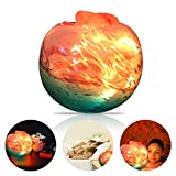 LUCKSTAR Himalayan Salt Lamp - Natural Rock Crystal Salt Lamp Natural Salt Crystal Chunks in Glass Bowl with Stripe Indoor Decoration Dimmer Switch Soft Warm Healthy Negative ion Air Purifying Lamp