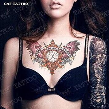 Tattoos Brust Tattoo Wasserdicht Flügel Buchstaben Sexy Frauen