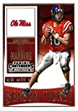 2016 Panini Contenders Draft Picks #37 Eli Manning Ole Miss Rebels Football Card in Protective Screwdown Display Case
