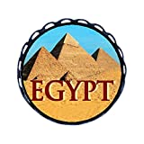 GiftJewelryShop Ancient Style Travel Egypt pyramids Round Pin Brooch