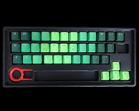 Feicuan 37 Keys Cap PBT Teclas Colorido retroiluminado Keycap de Juego Universal Reemplazo keyset para Teclado mecánico