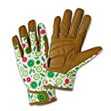 DIRTY WORK DW86211 Hi-Dex Goatskin Leather Gloves, Women's Small, Floral