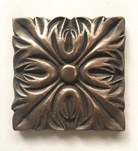 Bronze Metallic 4x4 Resin Decorative insert Accent piece (Ceramic Tile Inserts)