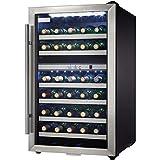 danby dwc114blsdd designer 38 bottle dual zone wine cooler black stainless steel glass