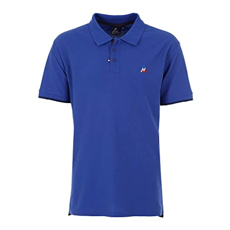 Peak Mountain -Polo Mangas Cortas Hombre - COROC-Azul-M: Amazon.es ...