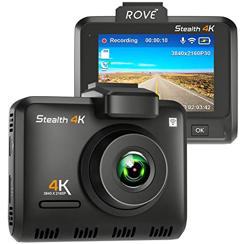 Rove Stealth 4K Wi-Fi Car Dash Cam 2.35