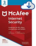 McAfee Internet Security|Antivirus| 3 Device|1Year Subscription| PC/Mac Download |2019 Ready