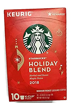 Starbucks Holiday Blend Keurig K-cups (Pack of 10 Cups)