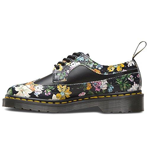 Dr. Martens Wingtip Shoe Black Darcy Floral 22729001, Botas Black