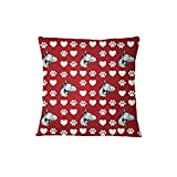 Thai Ridgeback Dog Red Paw Heart Sofa Bed Home Decor Pillow Cover Pillow & Cover Set ArtsLifes