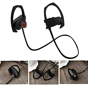 Bluetooth Headphones,Ztotop V4.1 Wireless Sweatproof Sports Headphones Lightweight Stereo Noise Cancelling Headset Black Red