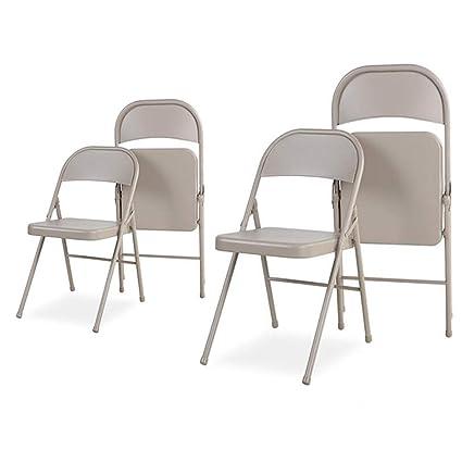 WGXX Silla Plegable Pack de 4 Silla Plegable Sillas de ...