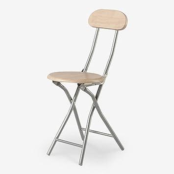 Homelx Haute chaise pliante à la maison chaise de salle à manger ...