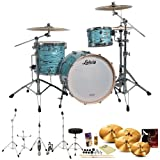 Ludwig USA LK7243KXTQ Turquoister 3-Pc Shell Pack w/ Accessories, Bass Pedal, Zildjian A390 Cymbals & Hardware