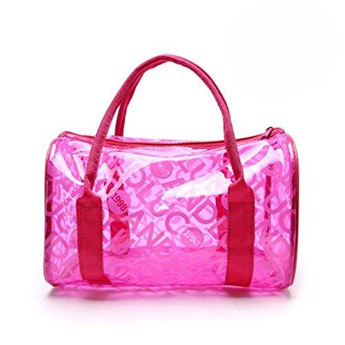 y negro para transparente negro impermeable playa para chica de Hot HugeStore mano Bolso PVC Pink natación xq7vnBa88