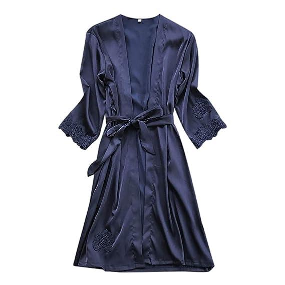 ... Robe Falda Babydoll Nightdress Sleepwear Kimono Batas Largas Kimono para Mujer Lenceria Ropa de Dormir Camisón de Encaje: Amazon.es: Ropa y accesorios
