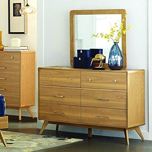 Ash Chest Of Drawers (Anika 6 Drawer Dresser in Light Ash - Dresser Only)
