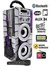 Descuento en Altavoz con Bluetooth para Karaoke con Micrófono DYNASONIC