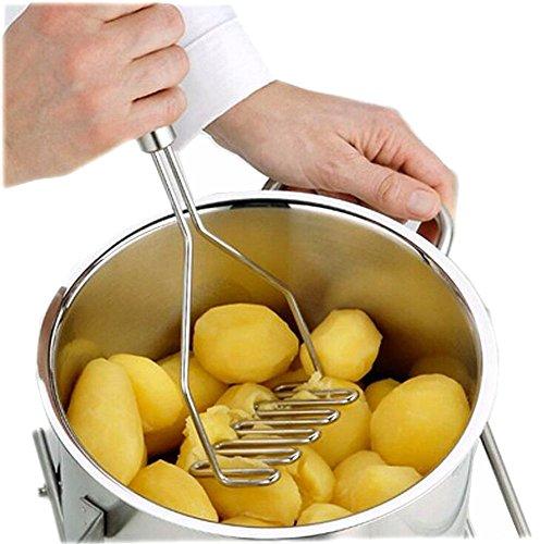 Da.Wa Küchenhelfe,Edelstahl Kartoffelstampfer,25x9.5cm