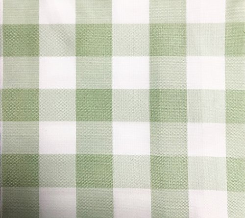 - GFCC Grass Green/White Gingham Checkered Polyester Tablecloth Rectangular Picnic Tablecloth,70 x 120-Inch
