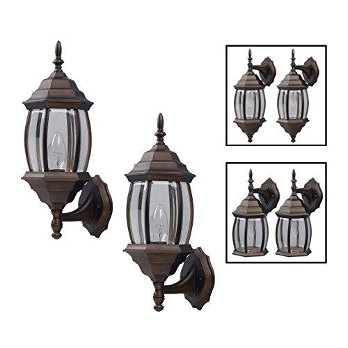 Outdoor garage lighting amazon outdoor exterior lantern light fixture wall sconce twin pack oil rubbed bronze workwithnaturefo