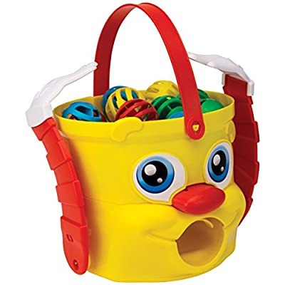Mr. Bucket Game -- The Spinning & Moving Bucket of Fun! by Pressman: Toys & Games