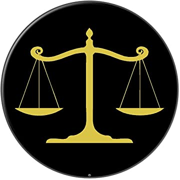 Amazon Balanced Scales Of Justice Symbol Legal Lawyer Gold And