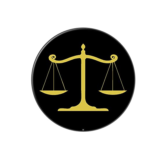 Balanced Scales Of Justice Symbol Legal Lawyer Gold And Black Metal