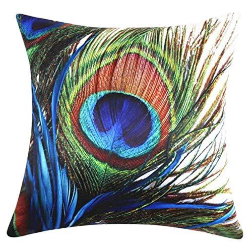 jin ding Ouneed Peacock Pillow Cases Home Decorative Cover Pillow Square housse de Coussin funda almohada decorativas 2017 Gift Drop