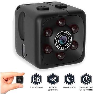Amazon.com: Mini cámara espía oculta para el hogar, oficina ...