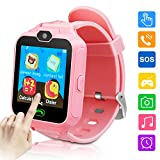 Kids Smartwatch Phone Game Smartwatches for Kid Smart Watches Camera Games Touch Screen Cool Toys Watch Gifts for Girls Boys Children (Pink)