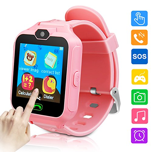 Kids Smartwatch Phone Game Smartwatches for Kid Smart Watches Camera Games Touch Screen Cool Toys Watch Gifts for Girls Boys Children (Pink) by Fantasy