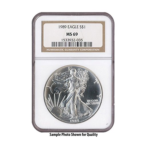 1989 American Silver Eagle $1 MS69 NGC