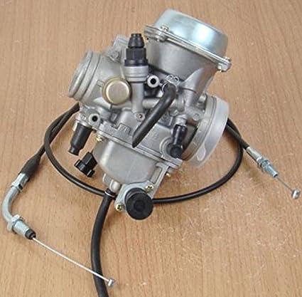 MothAr Carburetor U0026 Throttle Cable For Honda FourTrax 250 TRX250 TRX250X  TRX250R 4 Stroke(1985