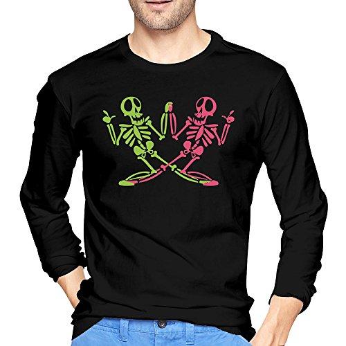 2015 Funny Happy Skulls Are Dancing Tshirt Men Black