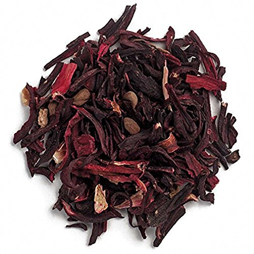 Piping Rock Organic Hibiscus Flowers Cut & Sifted 1 lb Bag (Flowers Organic Hibiscus Dried)