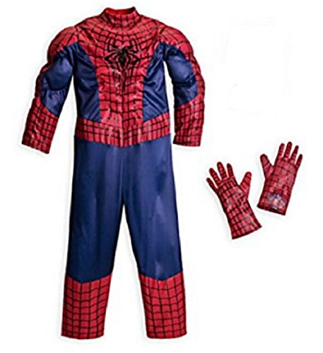 [Disney - The Amazing Spider-man Deluxe Costume for Boys - Size 7/8 - NEW] (The Amazing Spider Man All Costumes)