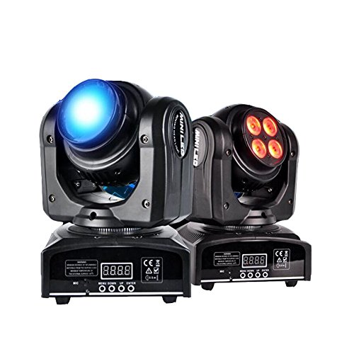 Moving Head Light, Double Face Stage Light, Auto Spot Sound Activated LED DMX Cree Beam Two Effect 4 x 10W RGBW 4in1 for Disco, Party, Par, Bar, DJ, Halloween, Christmas, Lifego by Lifego