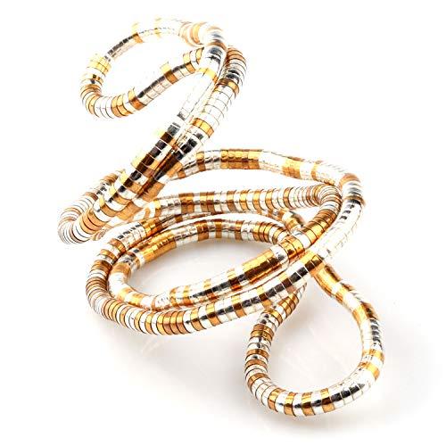 GVUSMIL Bendable Snake Twistable Flexible Neck Collar Choker Interesting Necklace Wrap Bracelet Scarf Holder