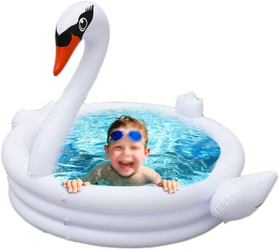 Jieer Piscina Hinchable, Bebé Inflable Cisne Blanco Baño Tinas de Baño Recién Nacido Engrosamiento Niños Bañera Portátil Piscina de Seguridad Fresca