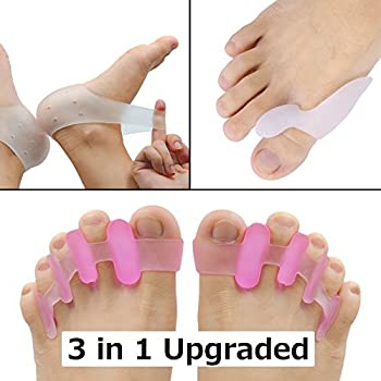 Toe Separators Toe Spacers Toe Separators Pedicure Bunion Correctors Plantar Fasciitis Inserts Hammer Toe Straightener Heel Protectors - Stretchy for Runner ...