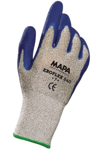 10 Length Blue Size 9 10 Length Mapa Professional 840419 MAPA Kromet 840 Natural Rubber Heavy Duty Glove Pack of 12 Pairs