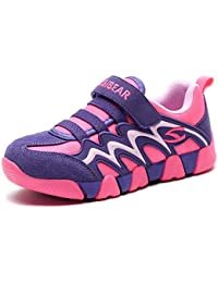 Boys Girls Sneakers Hook and Loop Kids Sports Running Shoes Comfortable Lightweight