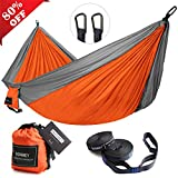 Our camping hammock keep you out of dirt, give you protection from pests; and also offer money-saving alternative for camping hammock beginners, offer you cozy night's sleep and close to nature.  Our hammock straps are wide enough to safely adhere t...